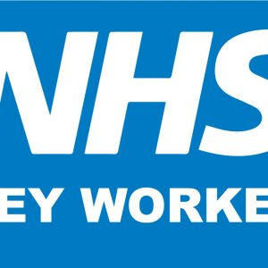 NHS key worker sign