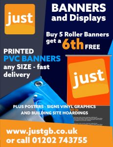 PVC Banners and roller banners advert